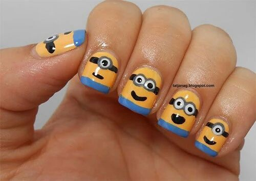 Minion Nail Art Pictures, Photos, and Images for Facebook, Tumblr, Pinterest, and Twitter