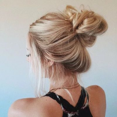 blonde messy bun pictures photos and images for facebook tumblr pinterest and twitter. Black Bedroom Furniture Sets. Home Design Ideas