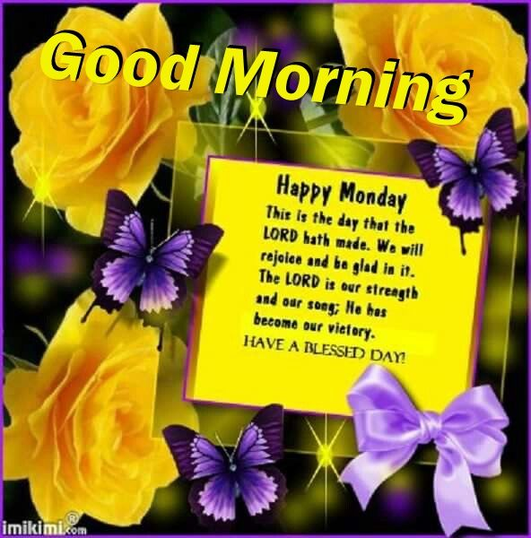 Good Morning Happy Monday Blessings Quote Pictures, Photos ...