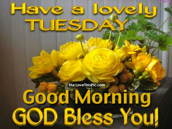 Have A Lovely Tuesday, Good Morning God Bless You