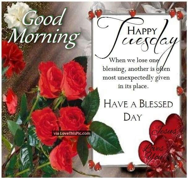 Good Morning Happy Tuesday Have A Blessed Day Quote With ...