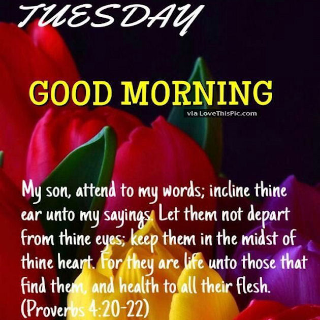 Good Morning Blessings Quotes Tuesday Good Morning Blessings Religious Quote Pictures, Photos  Good Morning Blessings Quotes