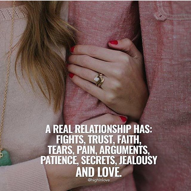 a real relationship has fights trust