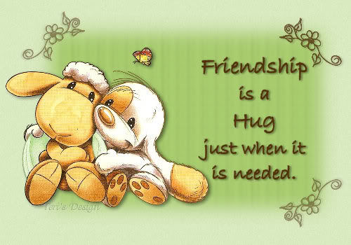 Friendship Is A Hug Just When It Is Needed Pictures