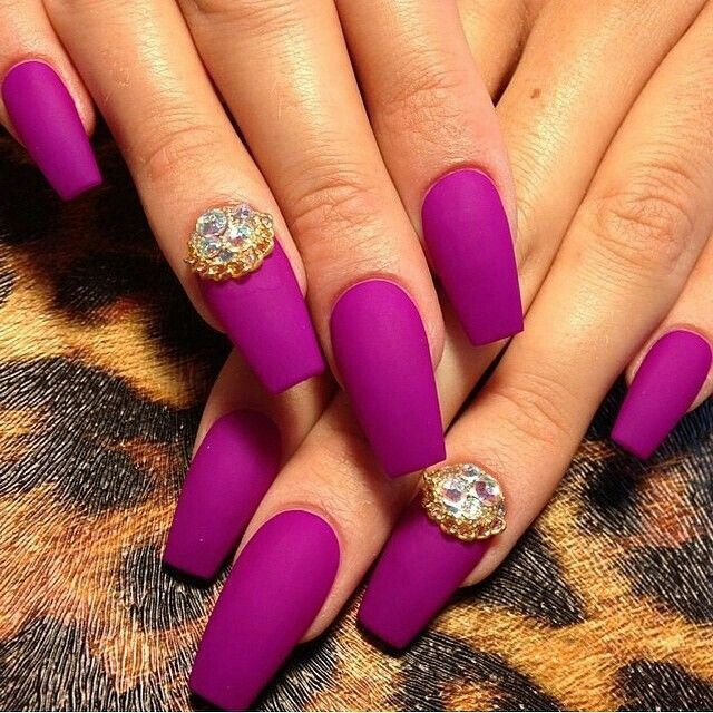Violet Matte Nails Pictures, Photos, and Images for ...