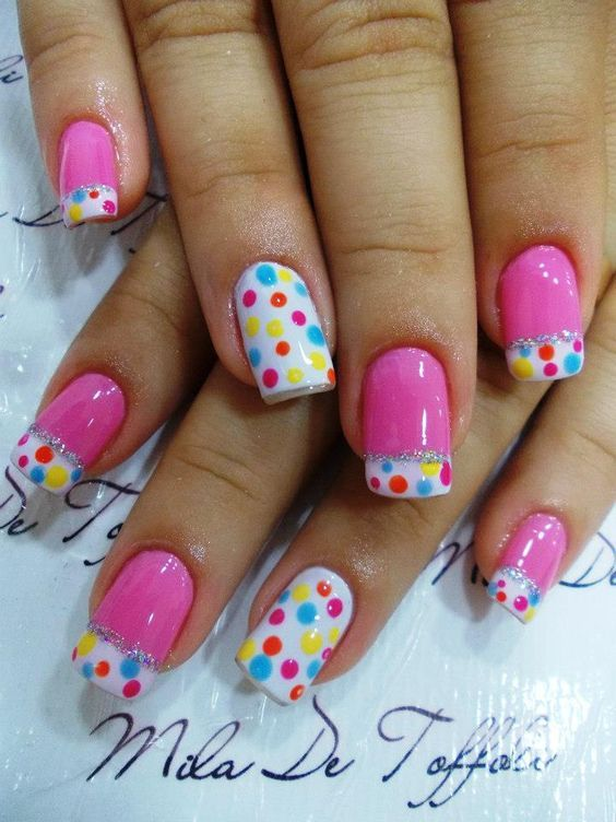 Pink And White Polka Dot Nails Pictures, Photos, and Images for ...