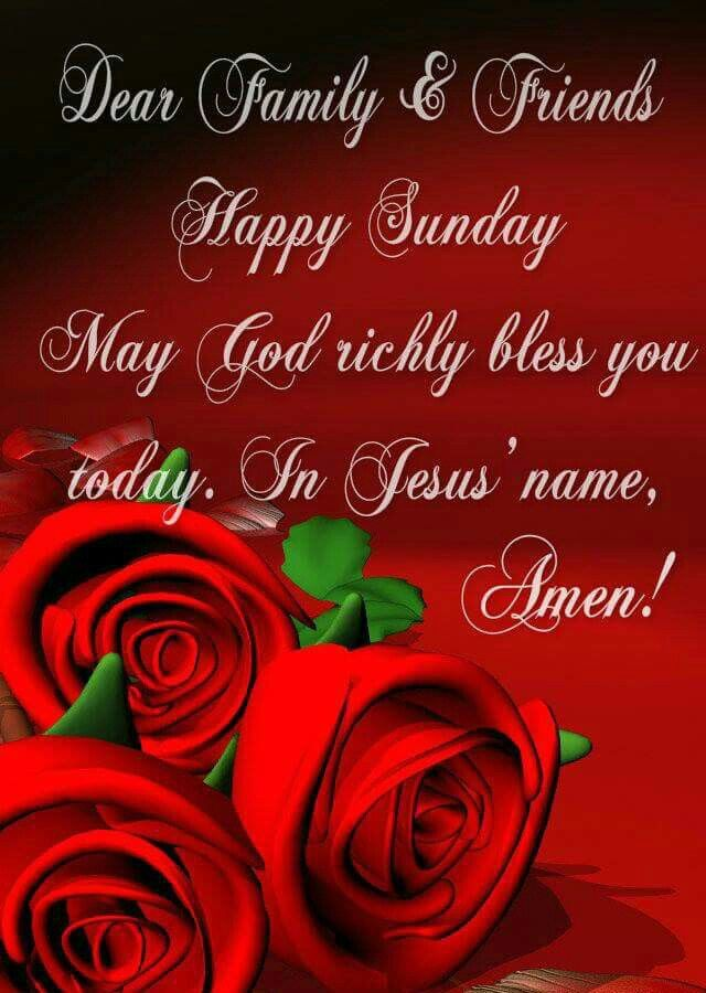 Dear Family And Friends Happy Sunday Pictures Photos Images For