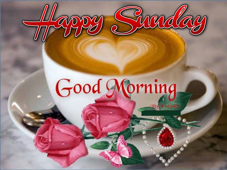 Happy Sunday Good Morning Coffee Heart Quote Pictures
