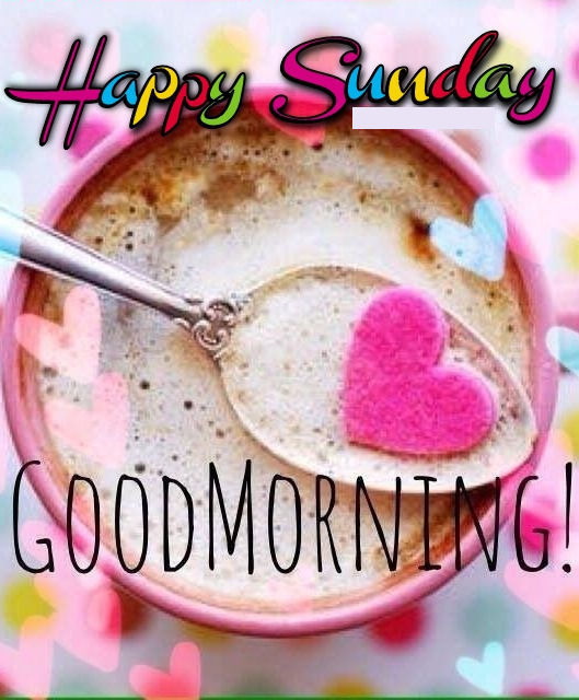 colorful sunday good morning coffee quote