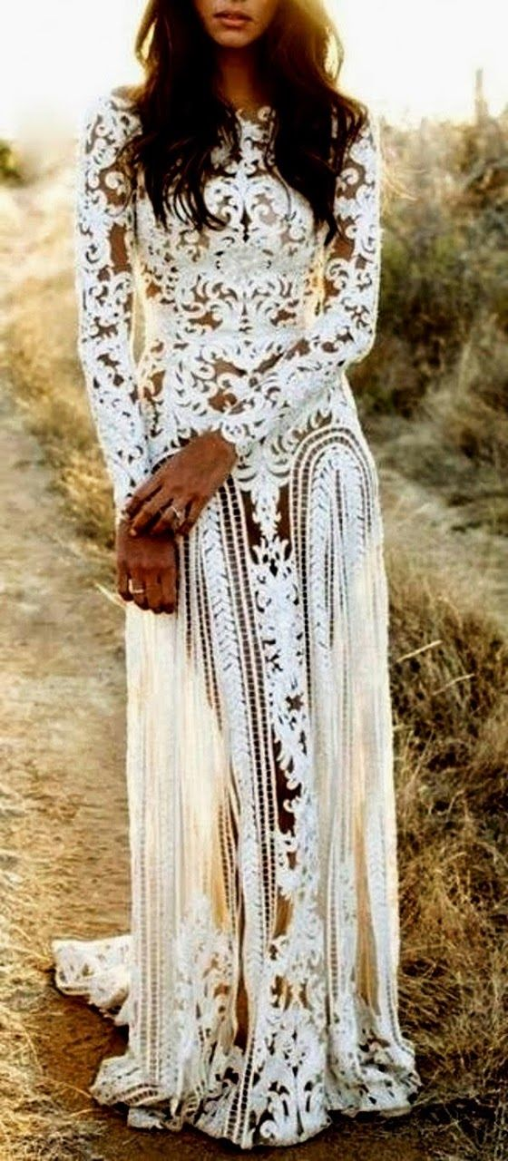 Bohemian Style White Lace Dress Pictures Photos And