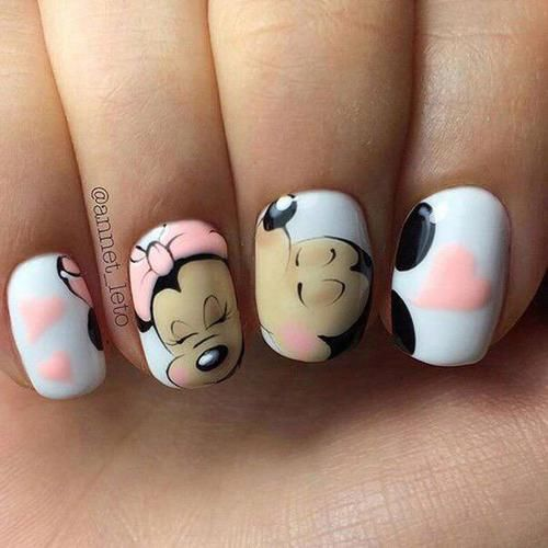 Minnie And Mickey Mouse Nails Pictures Photos And Images For