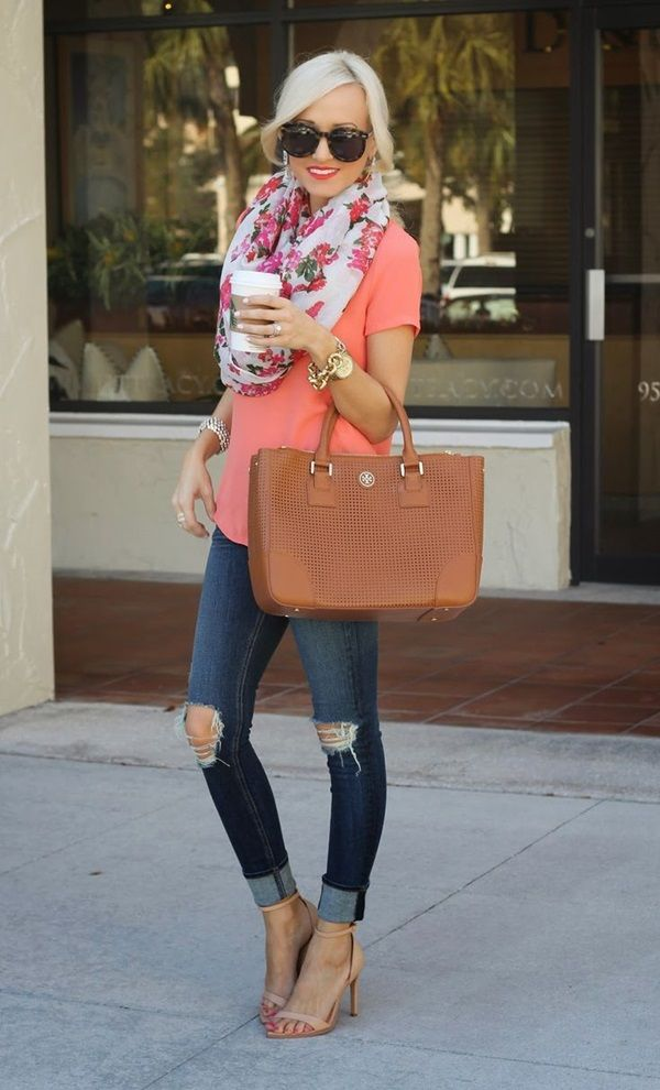 Orange Shirt With Knee Ripped Jeans Pictures Photos and Images for Facebook Tumblr Pinterest ...