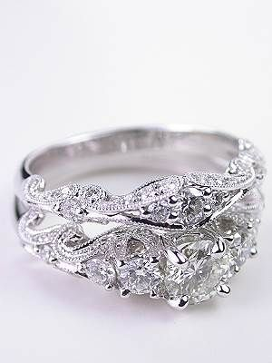 Swirling Diamond Engagement Ring Pictures Photos and Images for