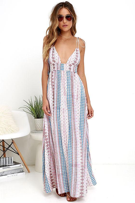 maxin relaxin multi print maxi dress pictures photos