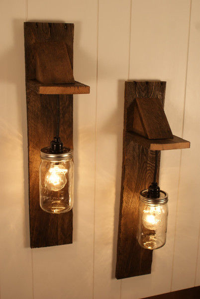 Diy pallet mason jar chandelier light fixture pictures photos and images for facebook - Diy light fixtures ...