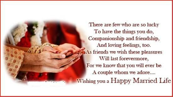 Happy Married Life Wishes In Urdu