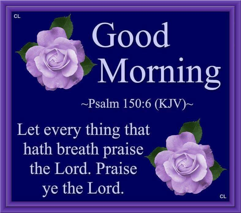 Good Morning, Let Everything That Hath Breath Praise The Lord. Praise ...