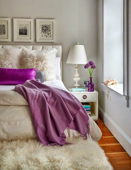 purple bedroom decor. Gray  Cream And Purple Bedroom Decor Pictures Photos and Images