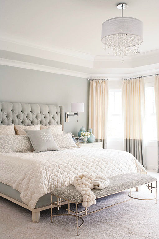 grey white and tan casual bedroom decor - Grey And White Bedroom Design