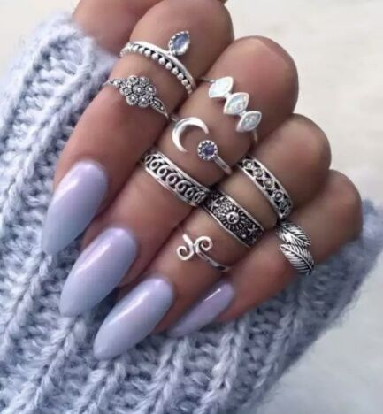 lavender shiny nails pictures photos and images for