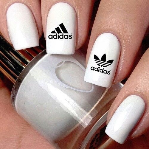 White Adidas Nails Pictures Photos And Images For