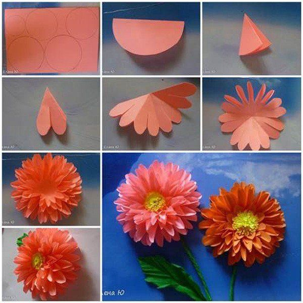 how to make origami big flowers