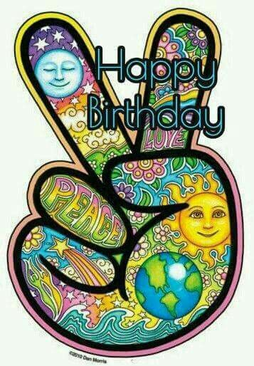 Hippie Peace Happy Birthday Quote Pictures, Photos, and Images for