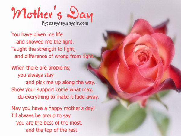 Happy Mother S Day 2019 Love Quotes Wishes And Sayings: Mother's Day Poem Pictures, Photos, And Images For