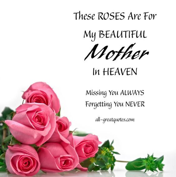 These Roses Are For My Mom In Heaven On Mothers Day