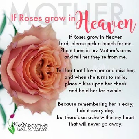 If Roses Grow In Heaven Pick Them For My Mother Pictures, Photos, and ...
