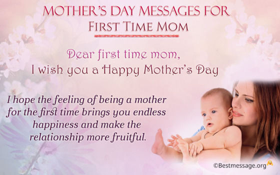 dear first time mom i wish you a happy mothers day