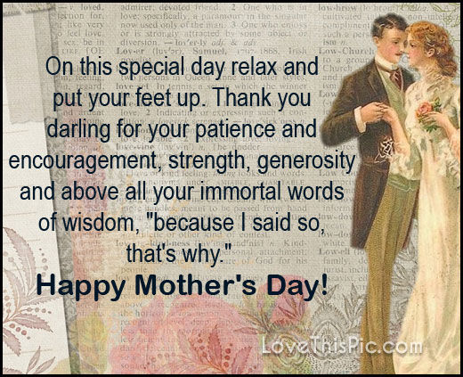Funny Mothers Day Quote From Dad To Mom Pictures, Photos ...