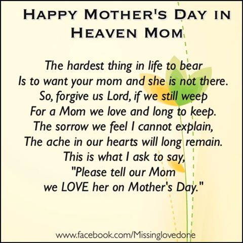 Happy Mother's Day In Heaven Mom Pictures, Photos, and ...