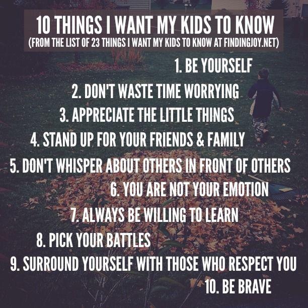 I want my kids