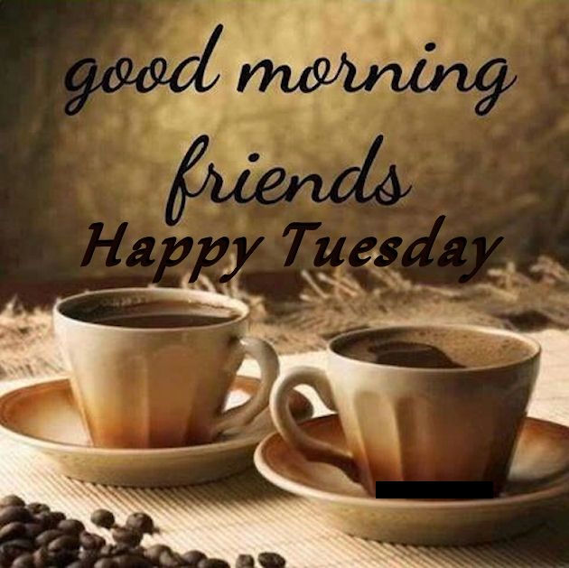 Good Morning Friends Happy Tuesday Coffee Quote Pictures