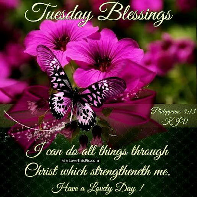 Tuesday Blessings Religious Quote Pictures, Photos, and