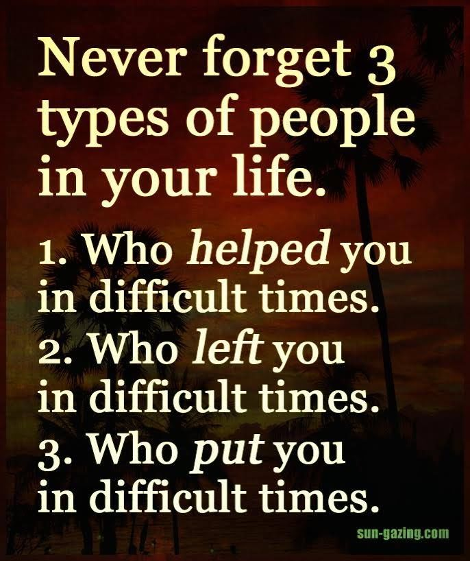 Quotes About A New Person In Your Life: Never Forget 3 Types Of People In Your Life Pictures