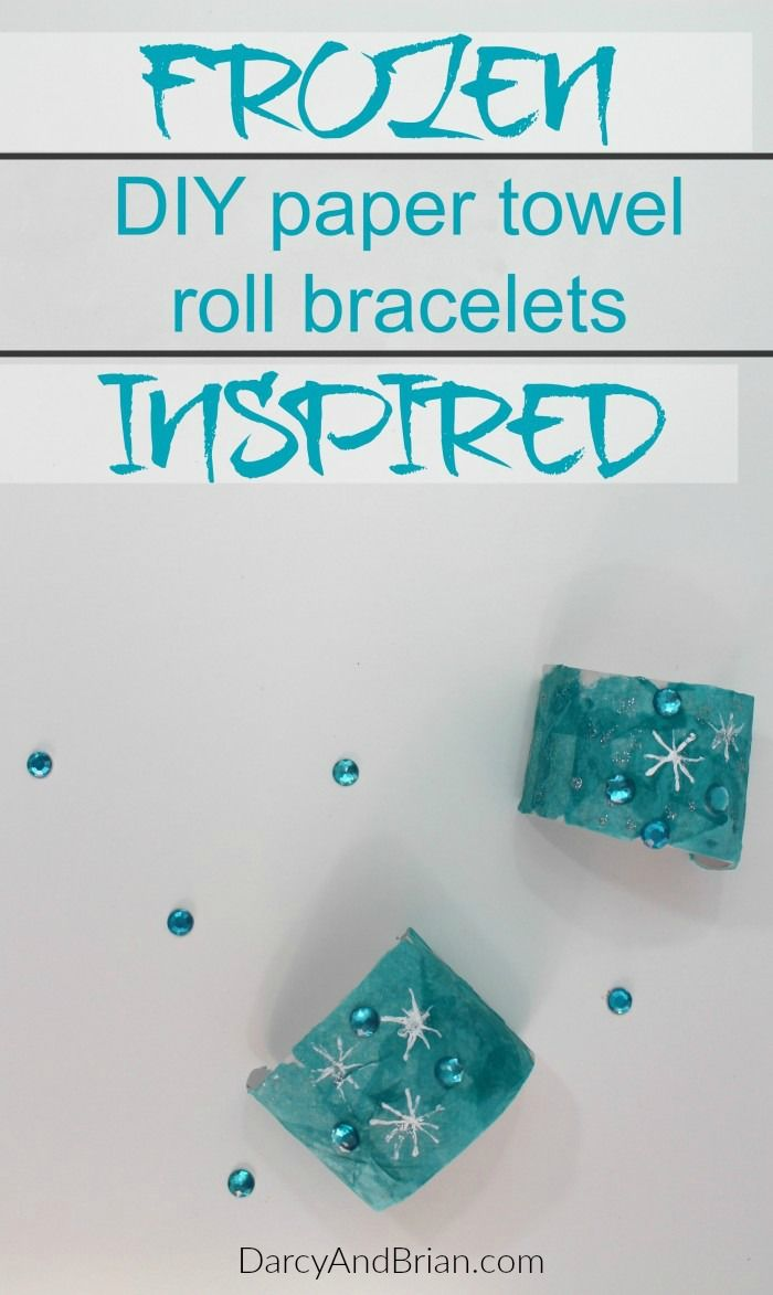 Frozen paper towel roll bracelets pictures photos and for Diy paper towel roll crafts