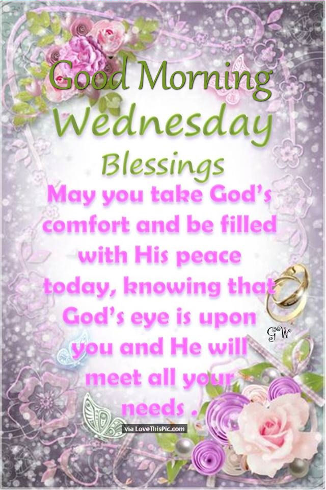 Good Morning Wednesday Blessings Image Quote