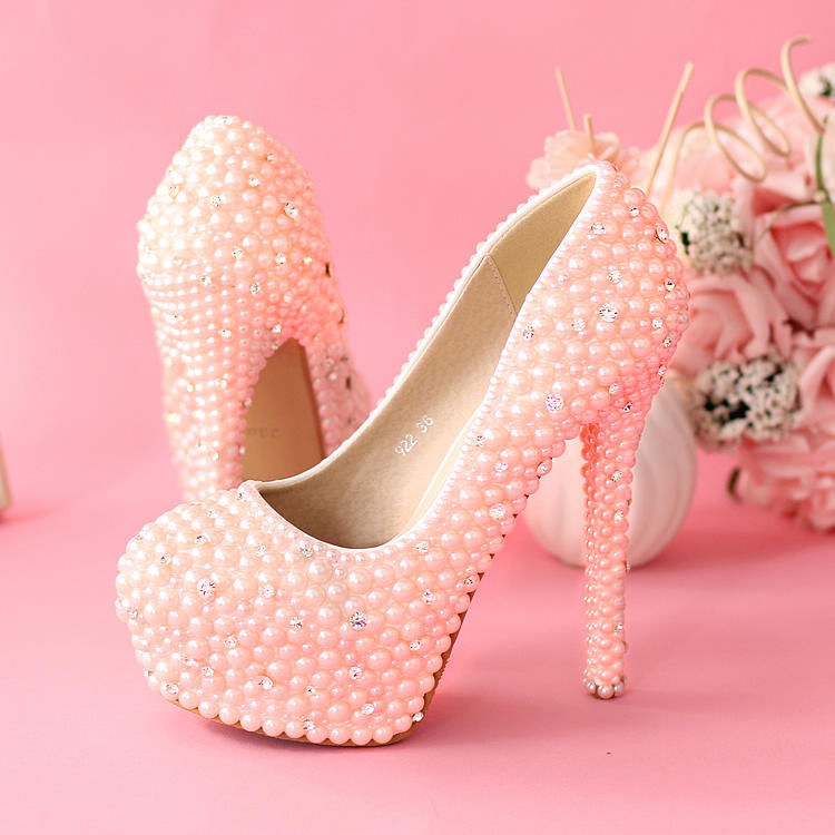 Pink Pearl Stiletto Pumps Pictures Photos And Images For