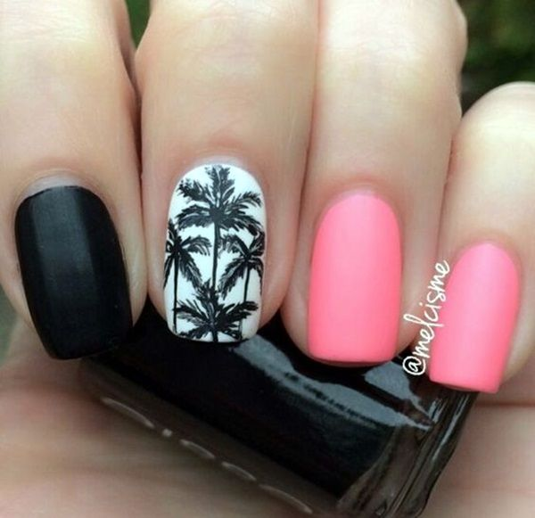 Pink and black nail art pictures photos and images for facebook pink and black nail art prinsesfo Images