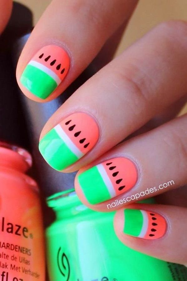Watermelon Nail Art Pictures Photos And Images For Facebook Tumblr Pinterest And Twitter