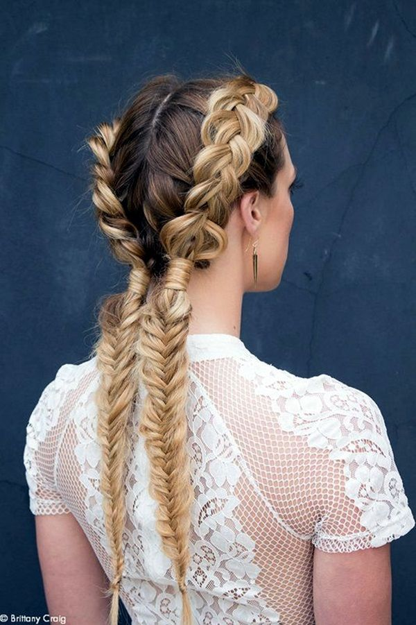 Honey Brown Braided Pigtails Pictures Photos And Images