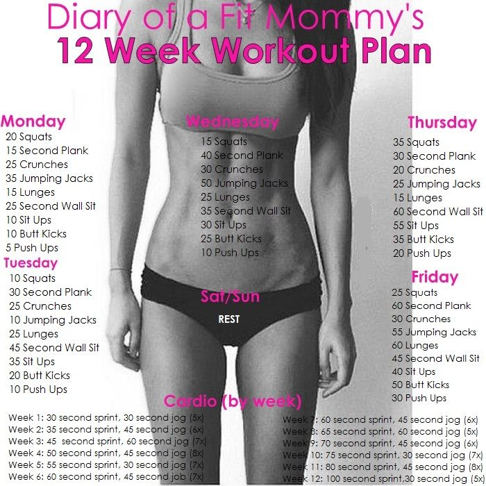 Diary Of A Fit Mommy's 12 Week Workout Plan Pictures ...
