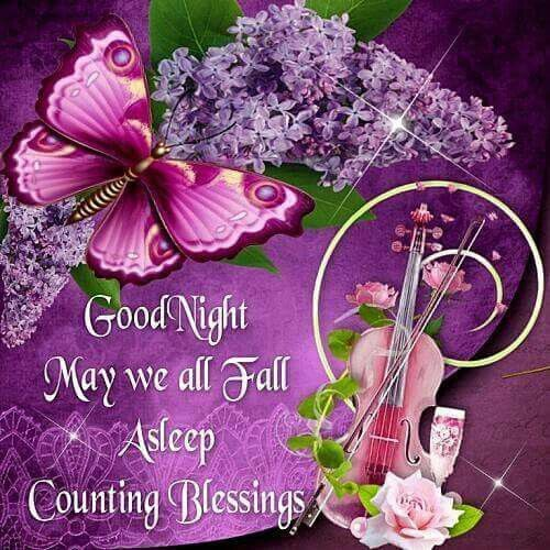 Good Morning And Goodnight In French : Goodnight may we all fall asleep counting blessings