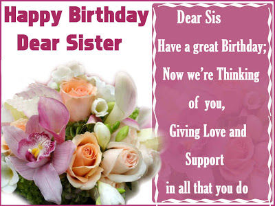Happy Birthday Dear Sister Pictures, Photos, and Images