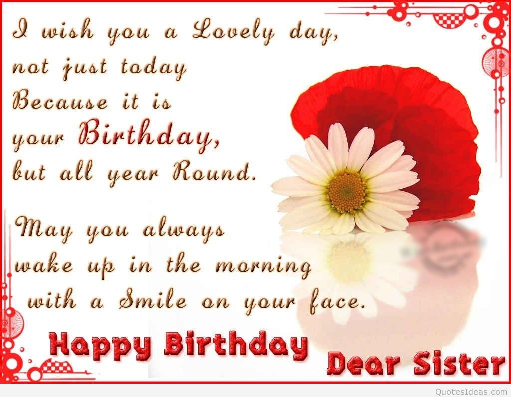 Happy Birthday Dear Sister Pictures Photos And Images For Facebook