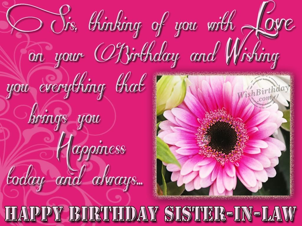 Happy birthday sister in law quotes graphics