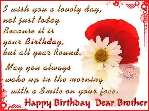 Happy Birthday Dear Brother Pictures Photos And Images For
