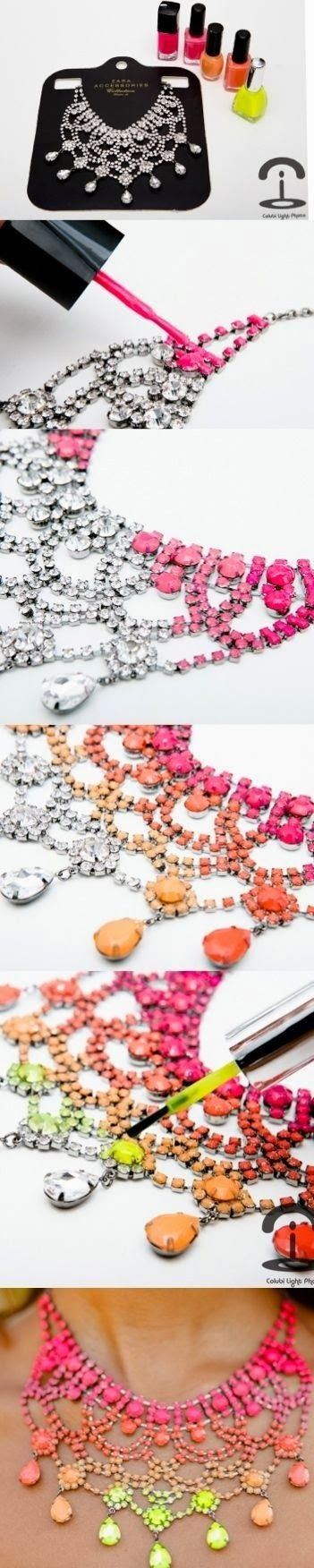 DIY Colored Necklace